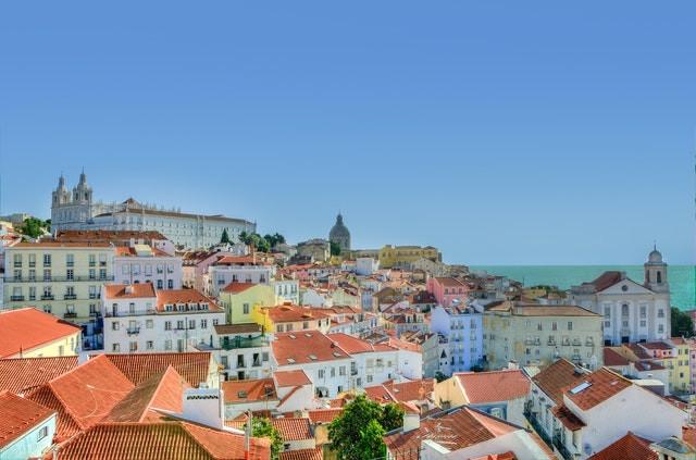 נוף בעיר ליסבון, פורטוגל